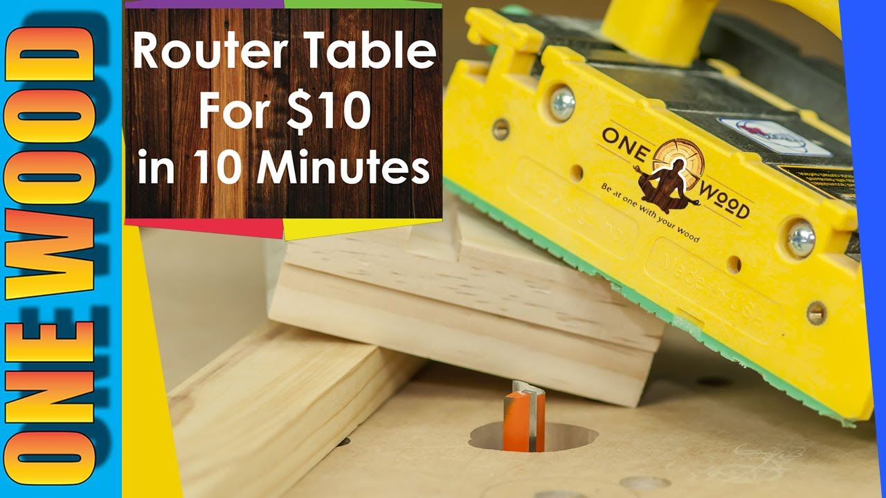 How to build a router table for Woodworking for under $10 - Woodworking ...