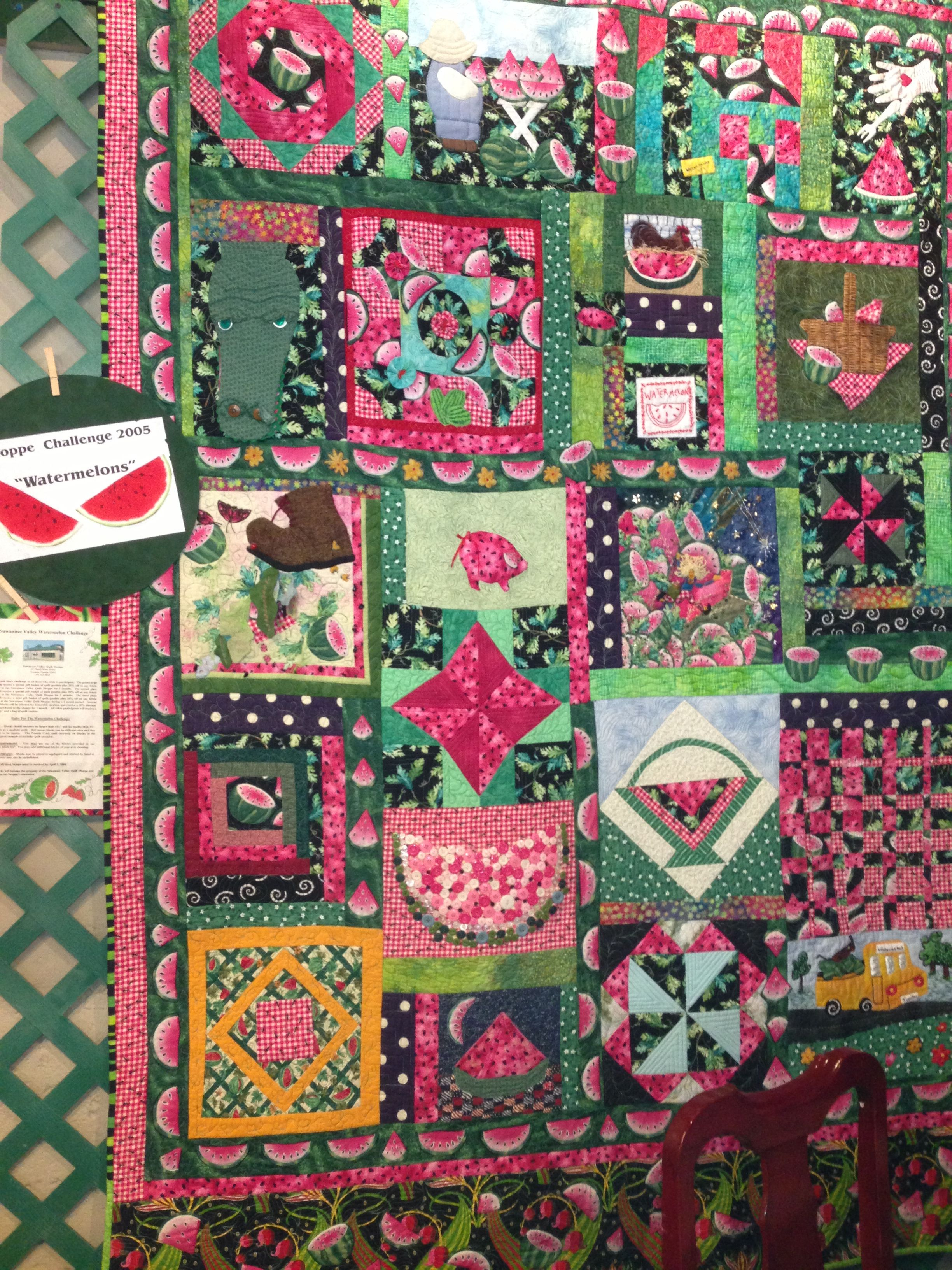 Challenge quilt 2005 at shop. Watermelons Suwannee valley quilt ... : suwannee quilt shop - Adamdwight.com
