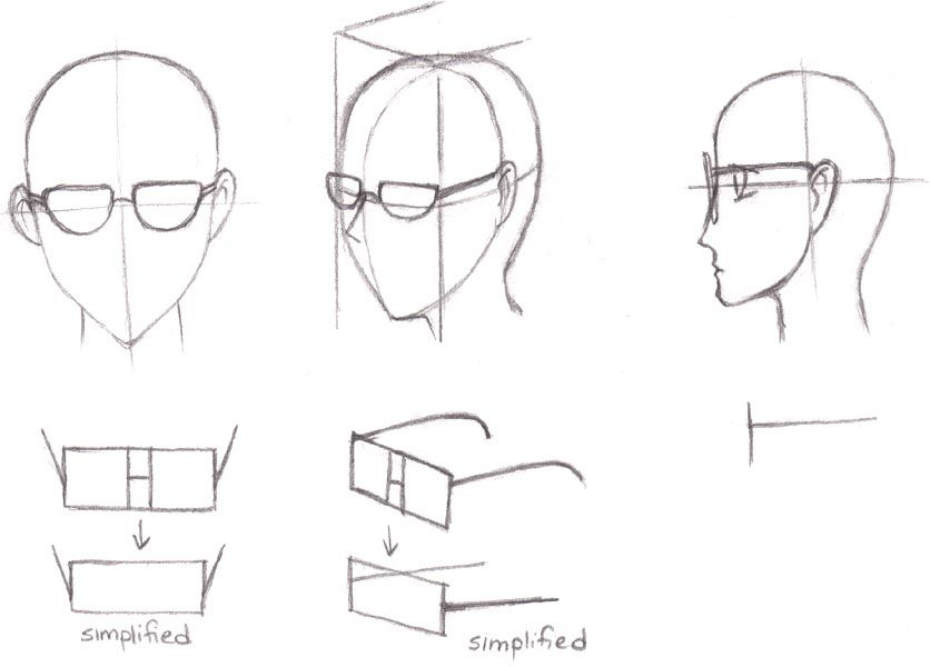 Manga Tutorials How To Draw Glasses Shades Specs Ans