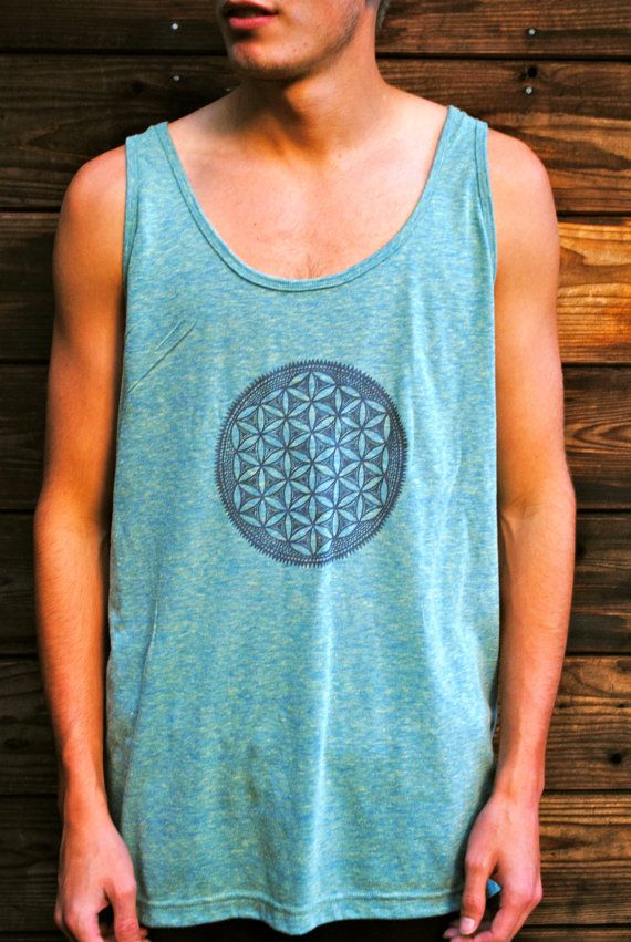 Flower of Life Sacred Geometry Unisex Tank Top by GrizzyLove, $24.00