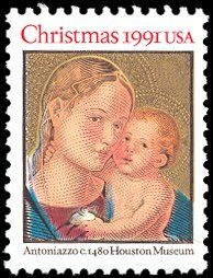 1991 29c Christmas Madonna and Child