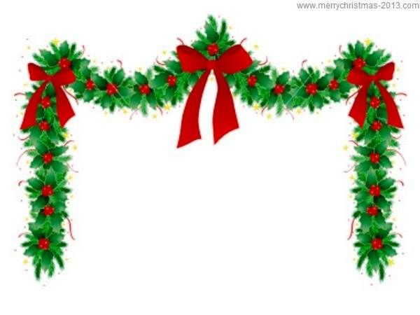 christmas border free clip art christmas clipart borders merry rh pinterest com christmas garland clipart black and white christmas garland clipart free