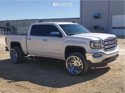 2016 Gmc Sierra 1500 24x14 76mm Xtreme Force Xf8 In 2020 Gmc
