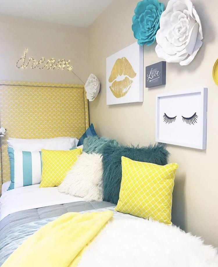 CHIC GIRLS DORM ROOM DECOR WITH TONS OF STYLE #girldorms