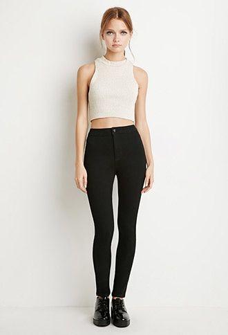 Jeans Skinny Altos Ropa Pantalones De Moda Ropa Linda