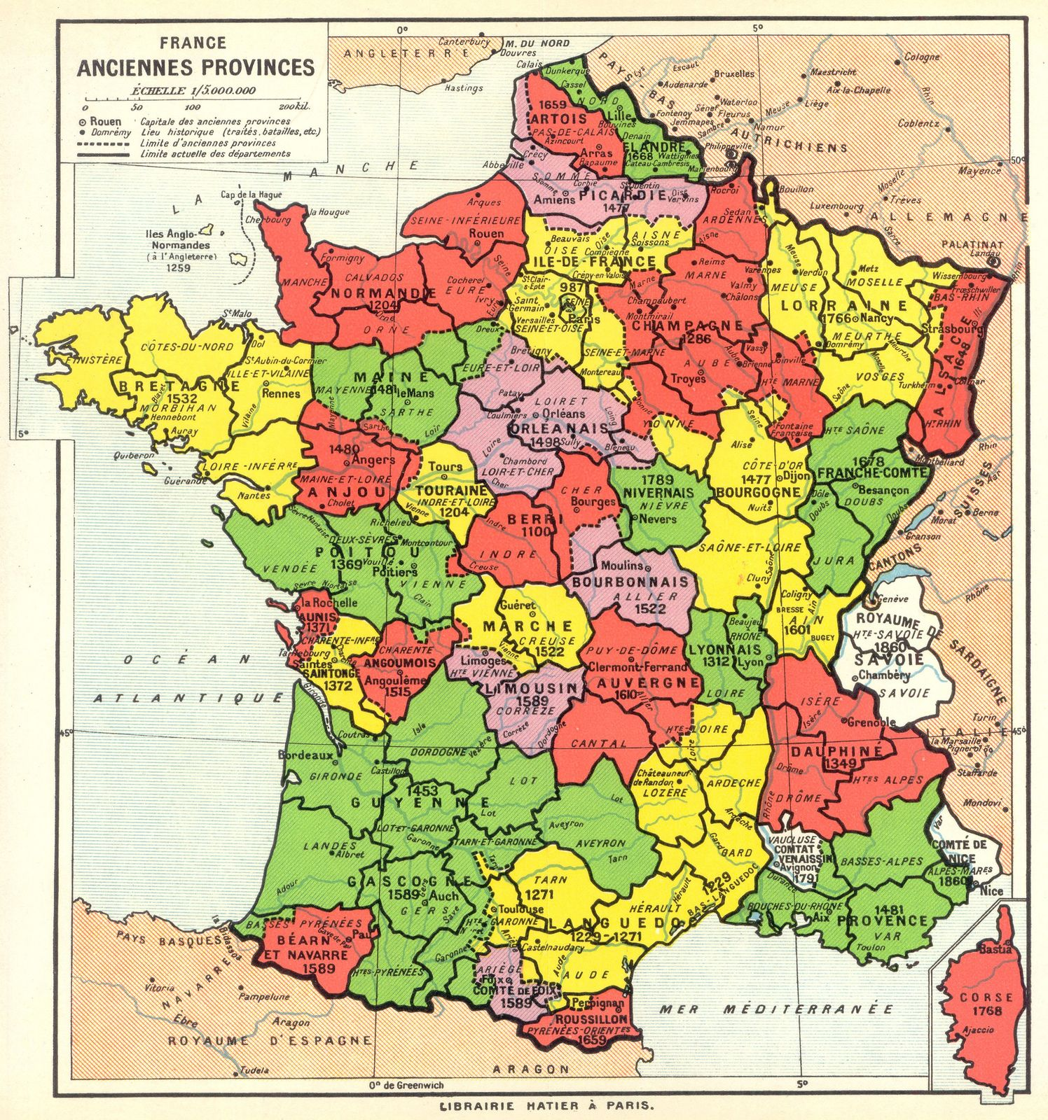 Geocarte 3 France Map Historical Maps Map