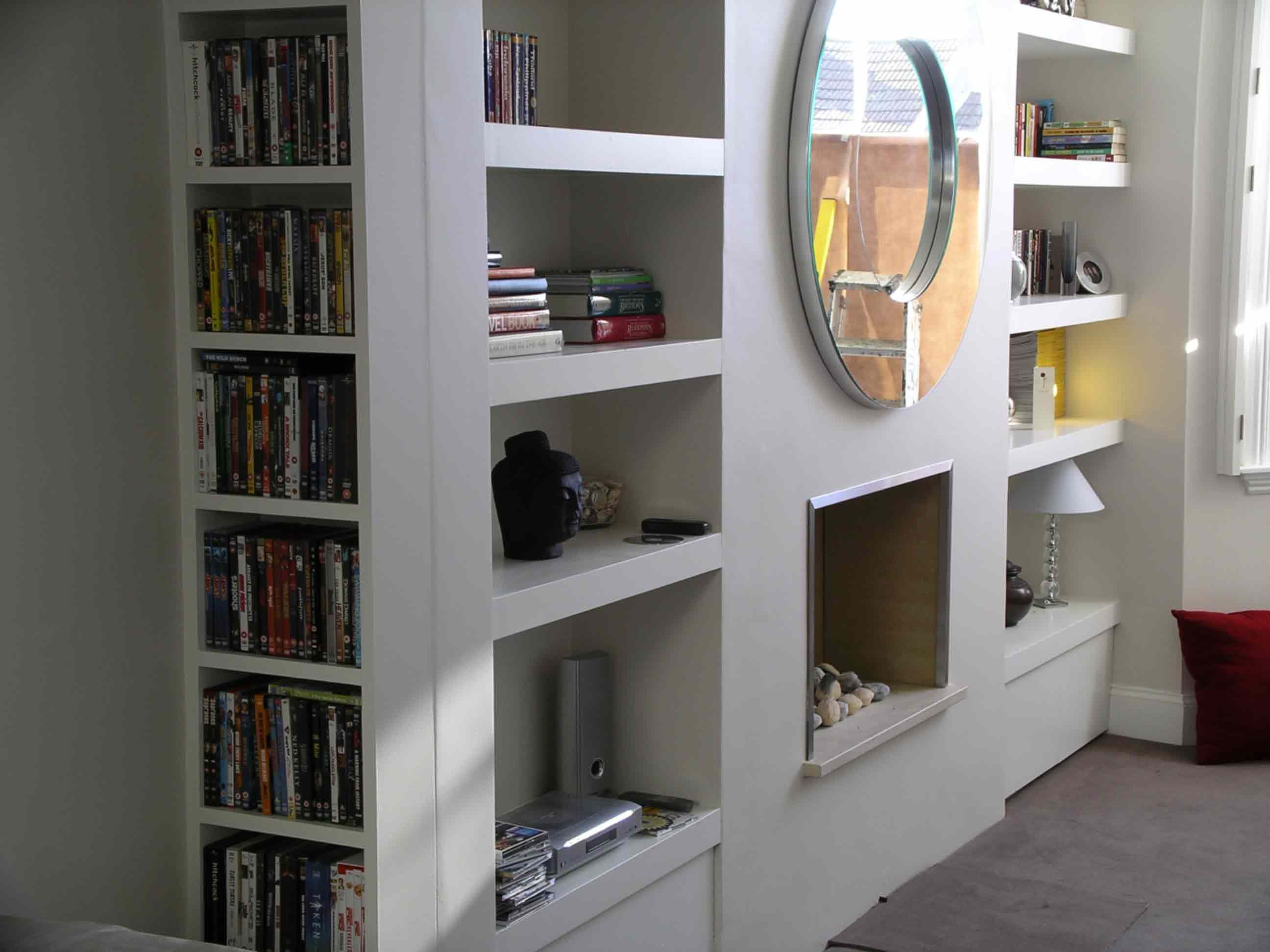Alcove cupboards custom made for chimney breasthttp www for Bathroom alcove shelves