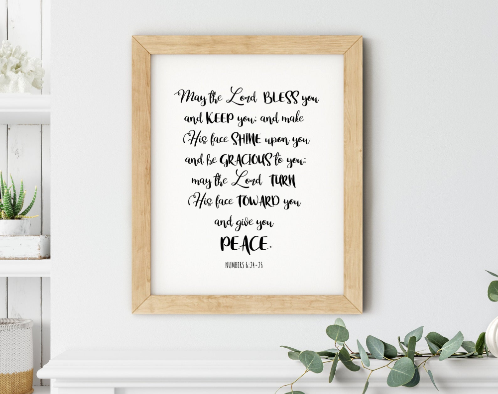 The Blessing May The Lord Bless You And Keep You Sign Etsy Bible Verse Art Print Inspirational Wall Art Wall Art Quotes