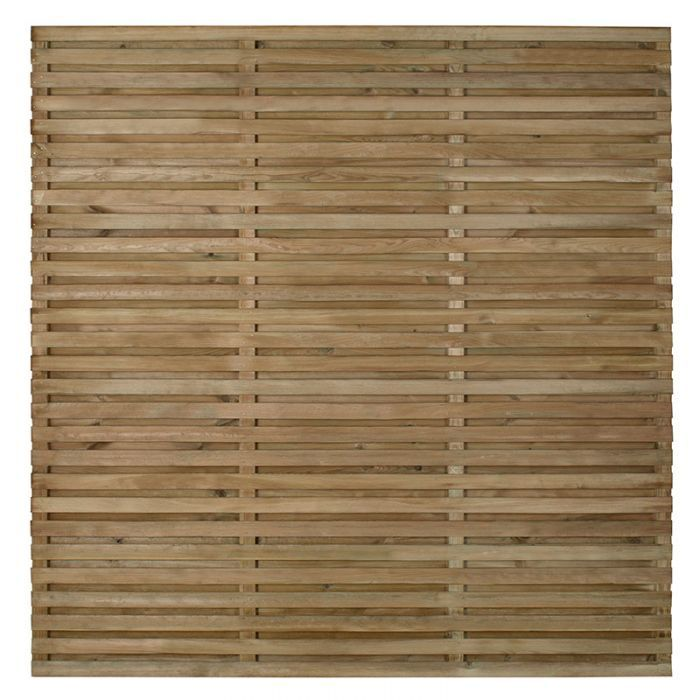 Forest 5 11 X 5 11 Pressure Treated Contemporary Double Slatted Fence Panel 1 8m X 1 8m Buy Fencing Direct Fencing And Garden Slatted Fence Panels W