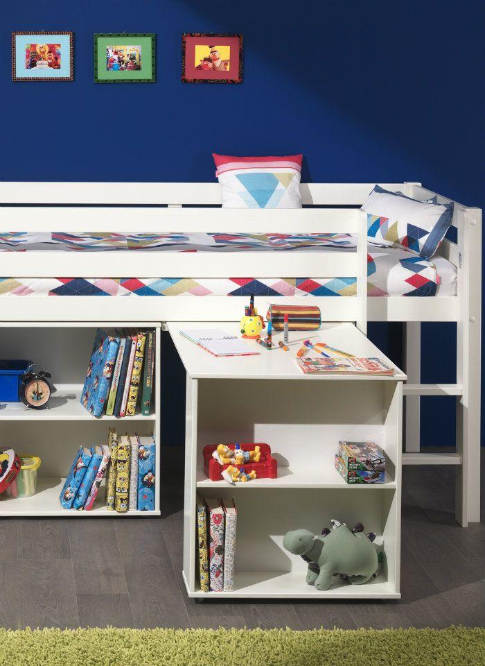 Spielbett Pino Mit Schreibtisch Und Regal 90 X 200 Cm