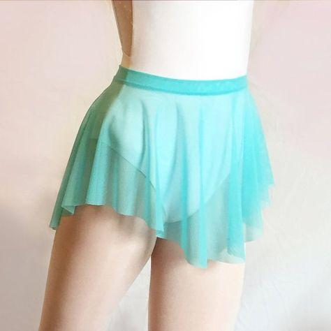 3f3f79c04 SAB skirt Ballet Dance Aquamarine Mesh- Royall Dancewear- Lyrical- Pull On-  ballet gift