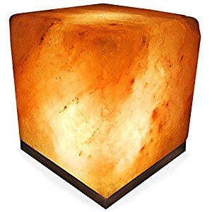 Amazon.com: Crystal Allies Gallery: CA SLS-CUBE-S Natural Himalayan Cube Salt Lamp Ionic Air Purifier on Wood Base with Cord, Light Bulb & Authentic Crystal Allies Info Card: Home Improvement