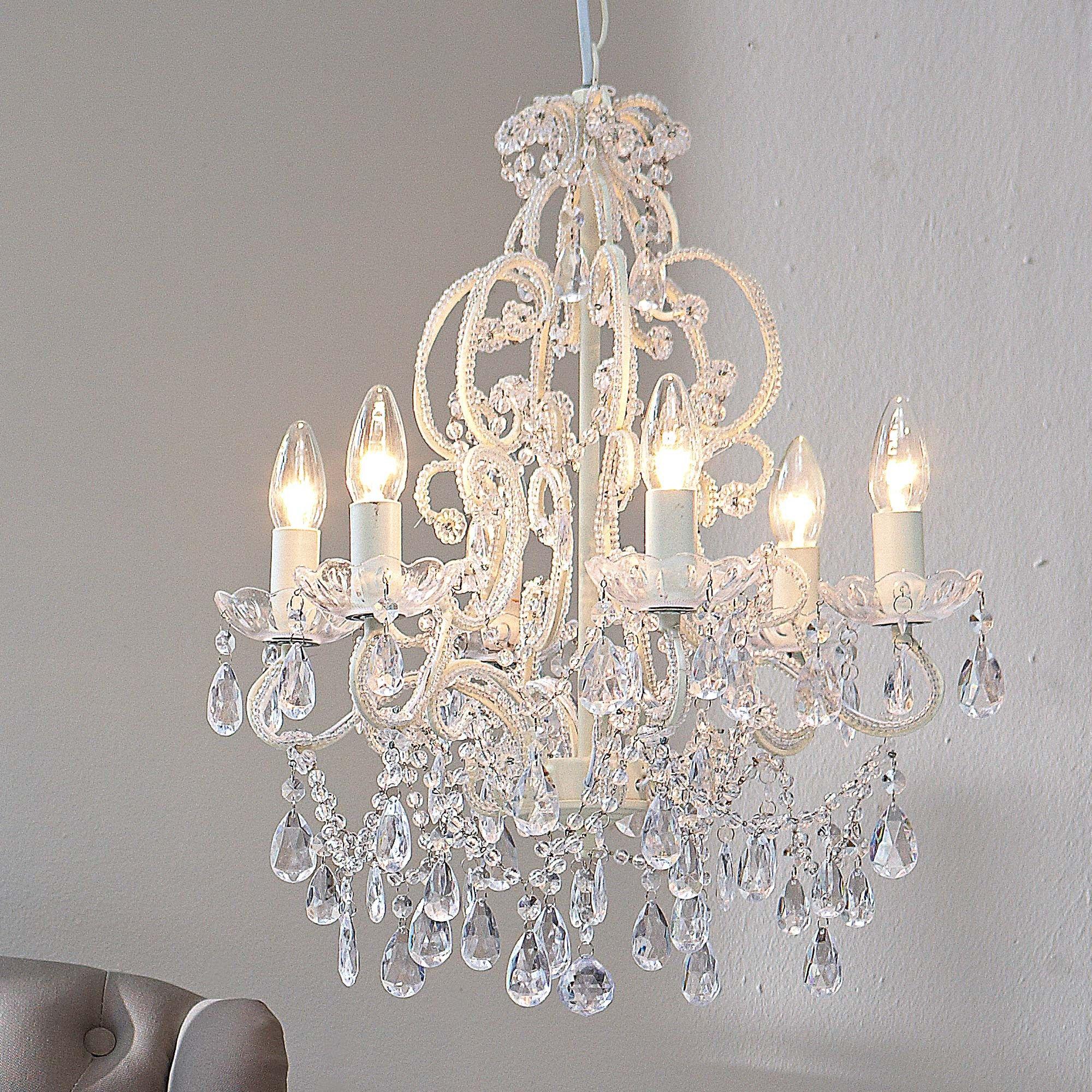 Schlafzimmer Lampe Weiss #24: Kronleuchter, Kronleuchter Weiss, Landhaus Lampen. Landhaus  LampenSchlafzimmer ...