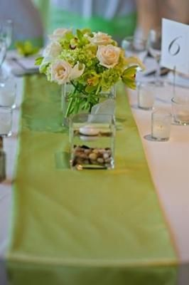 Green Table Runner Wedding Prominence With The Runners Garden Design