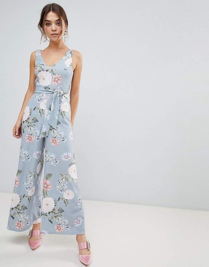 5945d4a0f3c ... wedding guest attire. New Look Floral Jumpsuit