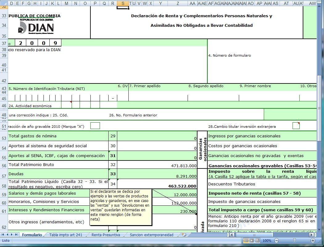 como diligenciar formulario 220 de 2015 como diligenciar