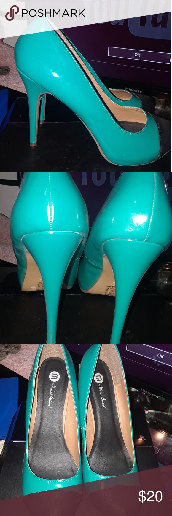 CHS674 Aqua Blue Bowtie Rhinestone Bridal Wedding Shoes