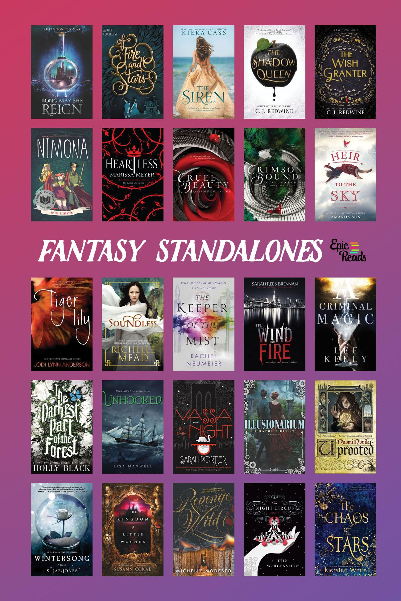 25 Epic YA Fantasy Standalones for the Commitment-Phobe ...