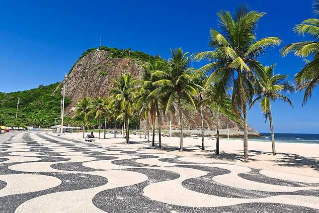 Copacabana Beach, Brazil One of the famous beach in Brazil