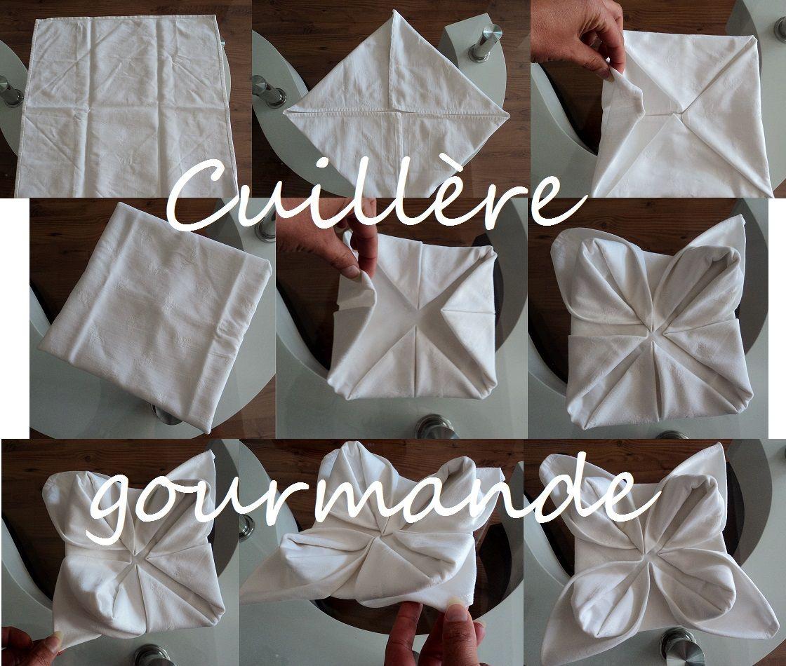 Pliage de serviette n nuphar table settings pinterest - Pliage serviette table ...