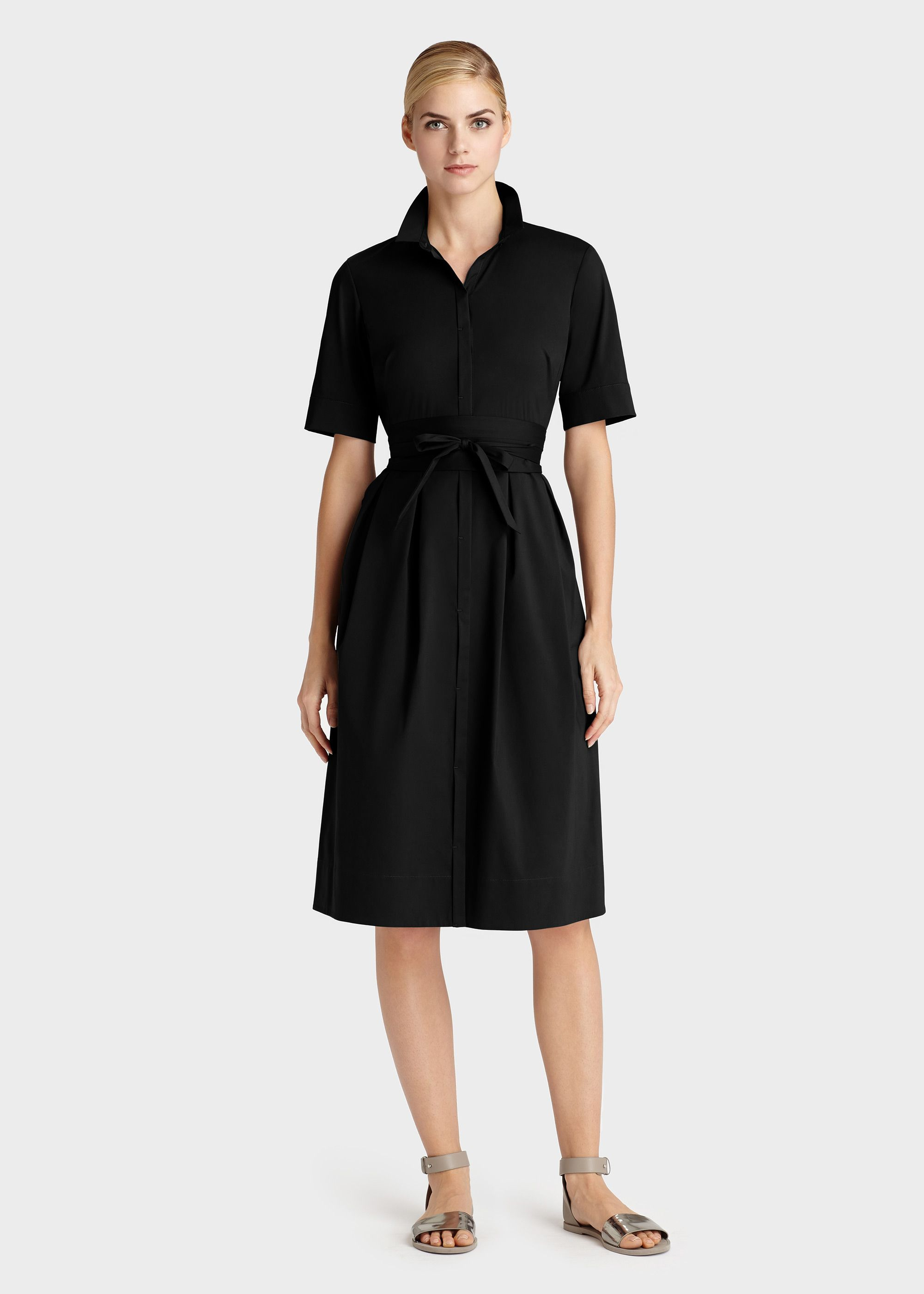 Italian Stretch Cotton Rayanne Dress - Dresses - Collection | Lafayette 148 New York