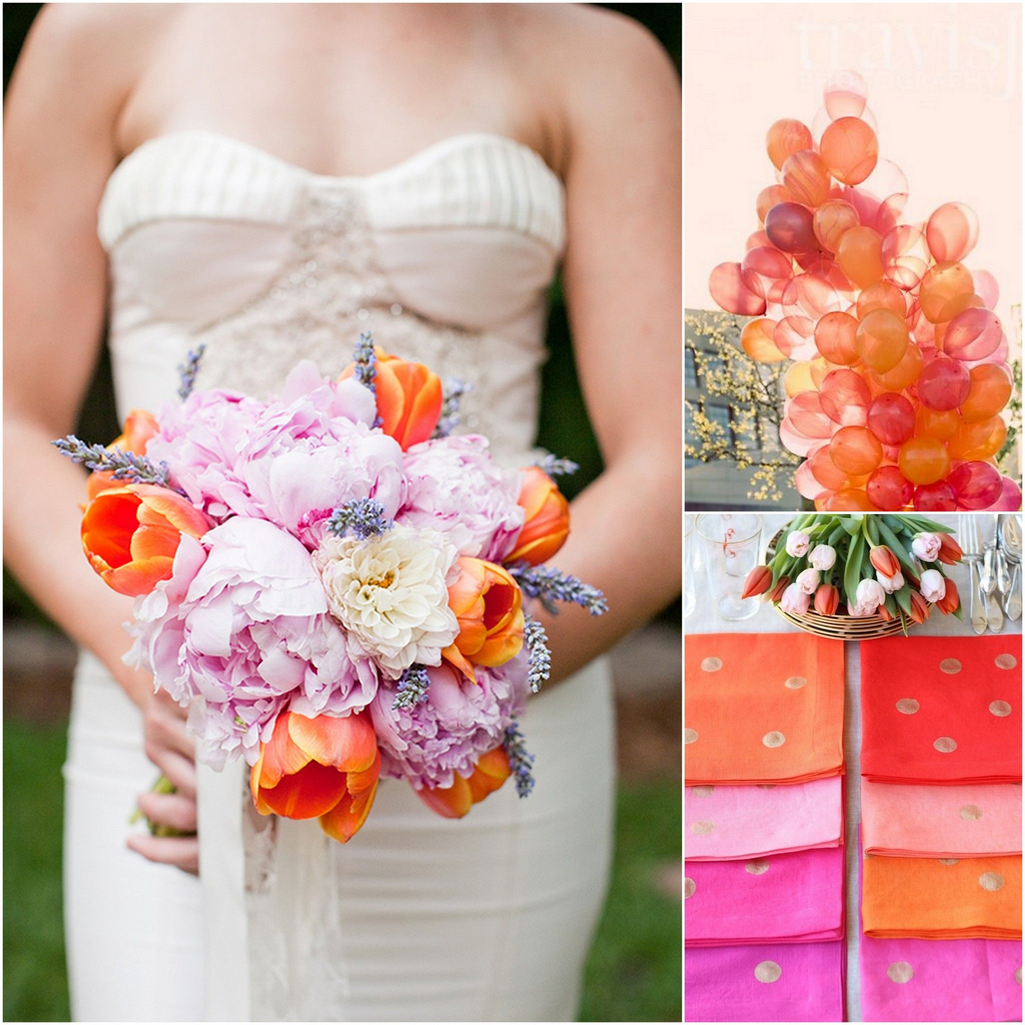 Orange And Purple Wedding Colors