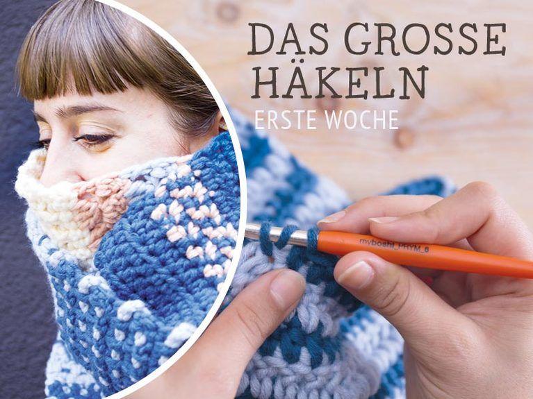 DIY-Anleitung: Schal Yubari häkeln - Das große Häkeln Woche 1 via ...