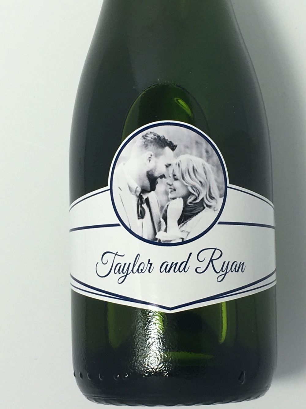 Wedding Mini Champagne Label Shown On Korbel 187ml Split Bottle Waterproof Custom Shape