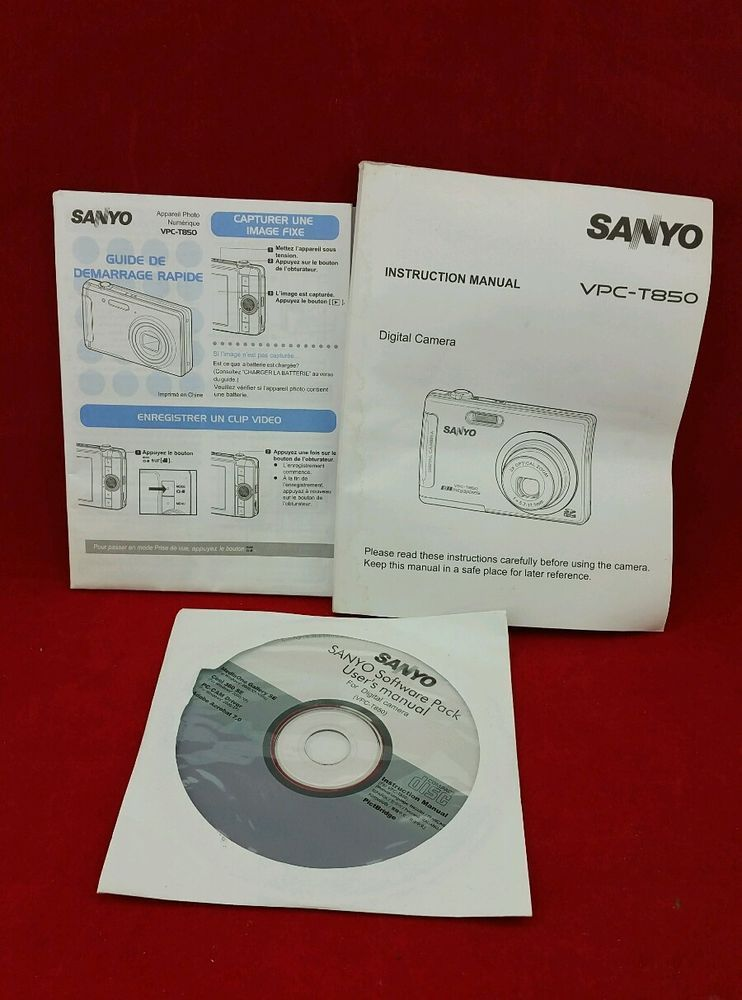 sanyo vpc t850 user guide instruction manual cd software pack rh pinterest co uk