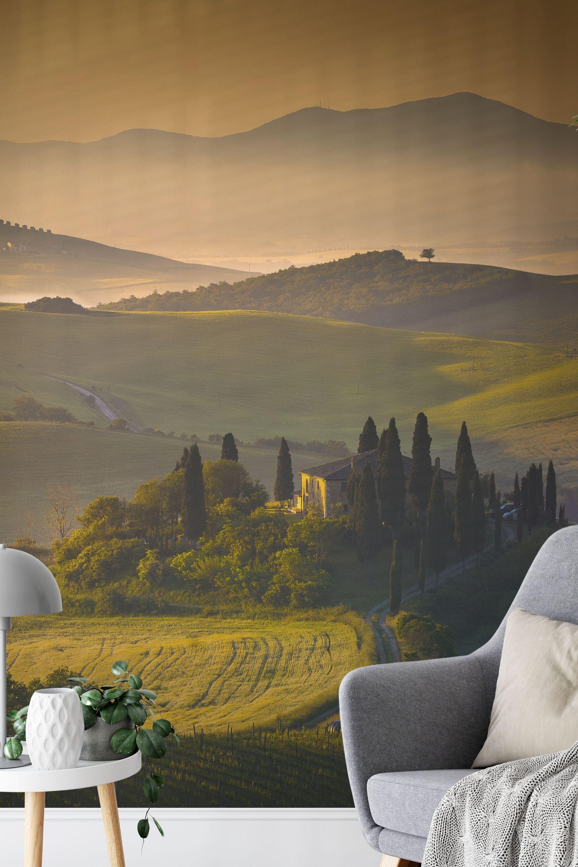 Toscane Aan De Muur Fotobehang Behang Ontwerpen Behang