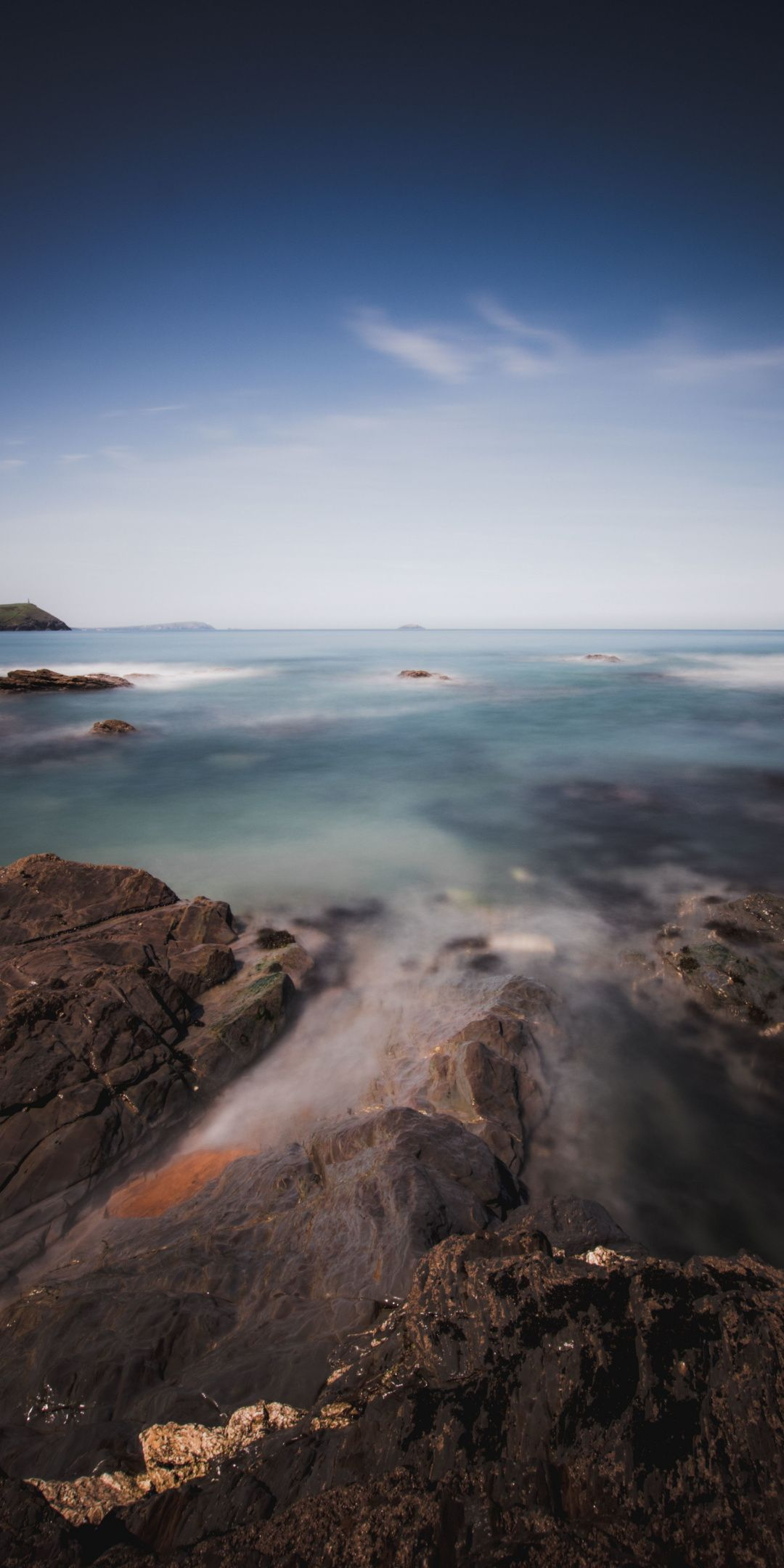 Beautiful, coast, rocks, shallow beach, sea, 1080x2160