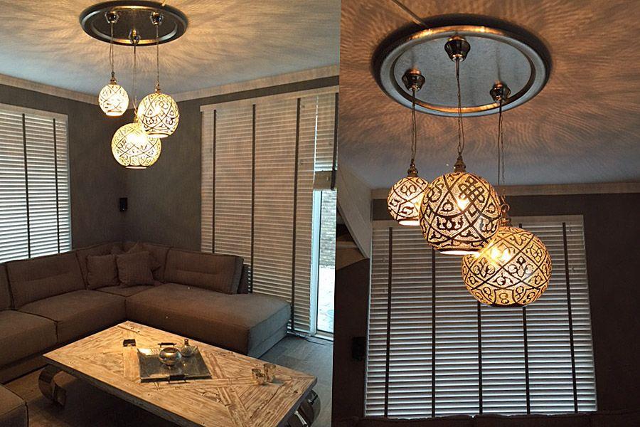 Design Woonkamer Lampen : Groep oosterse lampen isra in woonkamer van nour lifestyle