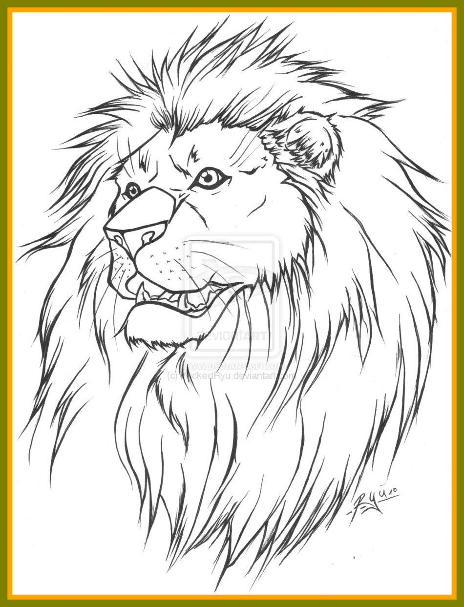 Inspiring Image Detail For Lion Tattoo Lineart Version By