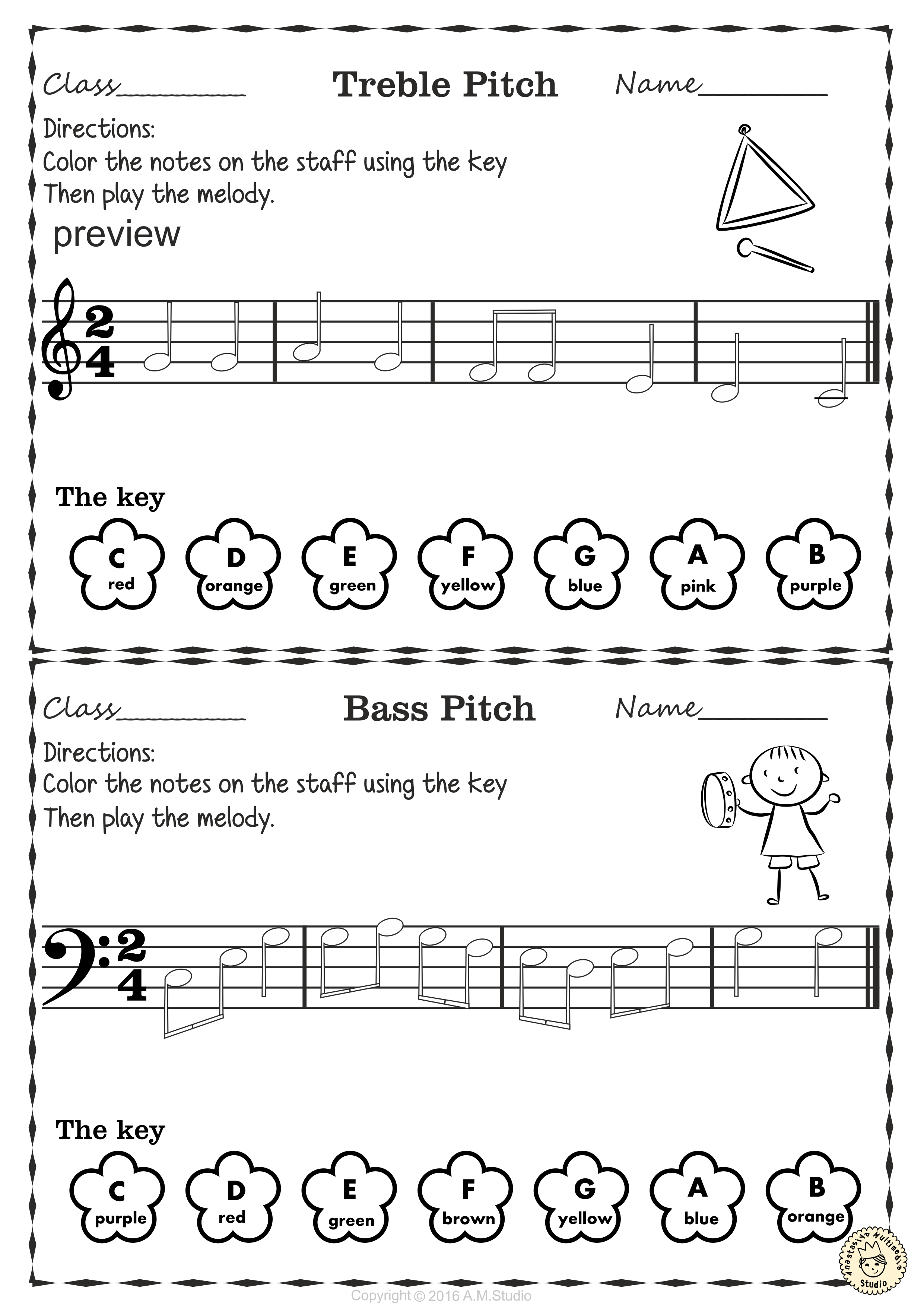 Pin By Anastasiya Multimedia Studio On Note Naming Worksheets Music Theory Worksheets Color Activities Reading Notes [ 3511 x 2481 Pixel ]