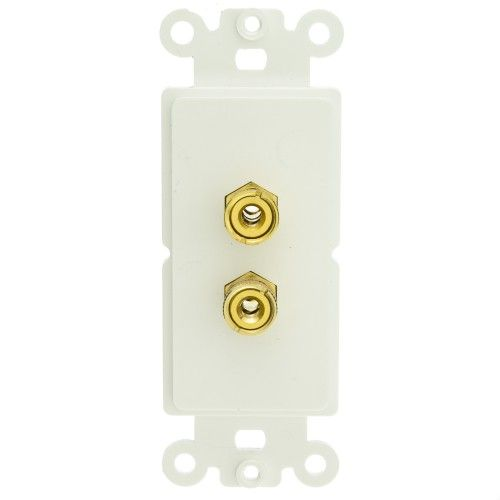 Banana Plug Wall Plate Captivating Decora Wall Plate Insert White 2 Banana Plug Binding Posts  Wall Design Inspiration