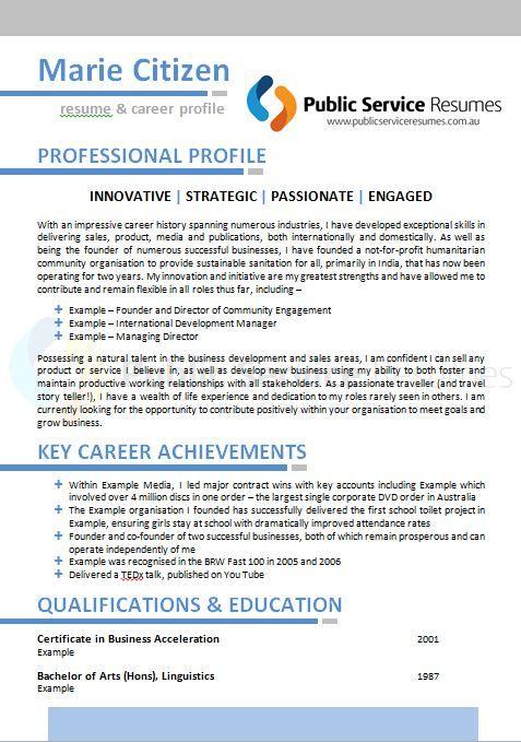 Public Service Resume   resume