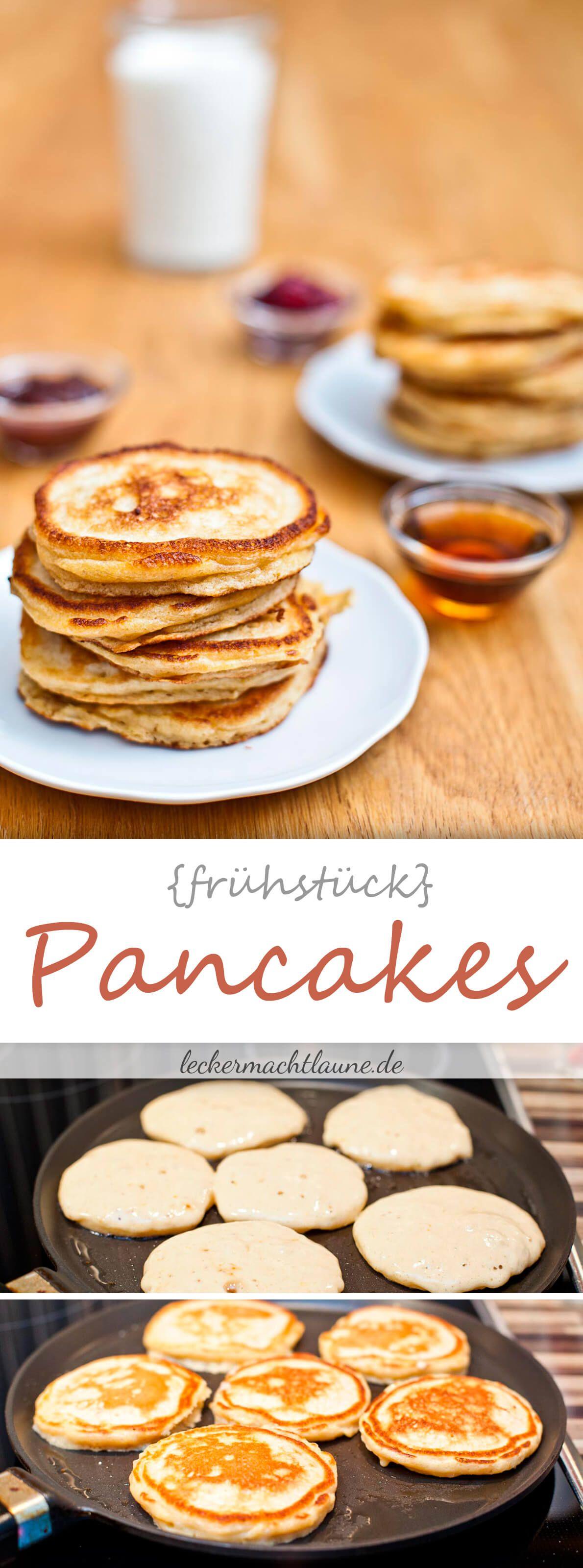 Buttermilch-Pancakes {frühstück} | lecker macht laune #grilleddesserts