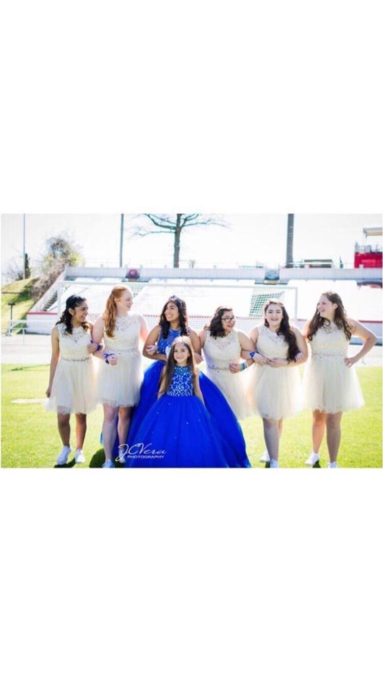 Quinceanera Damas Photo Quinceanera Dresses Blue Royal Blue Quinceanera Quinceanera Hairstyles [ 1334 x 750 Pixel ]