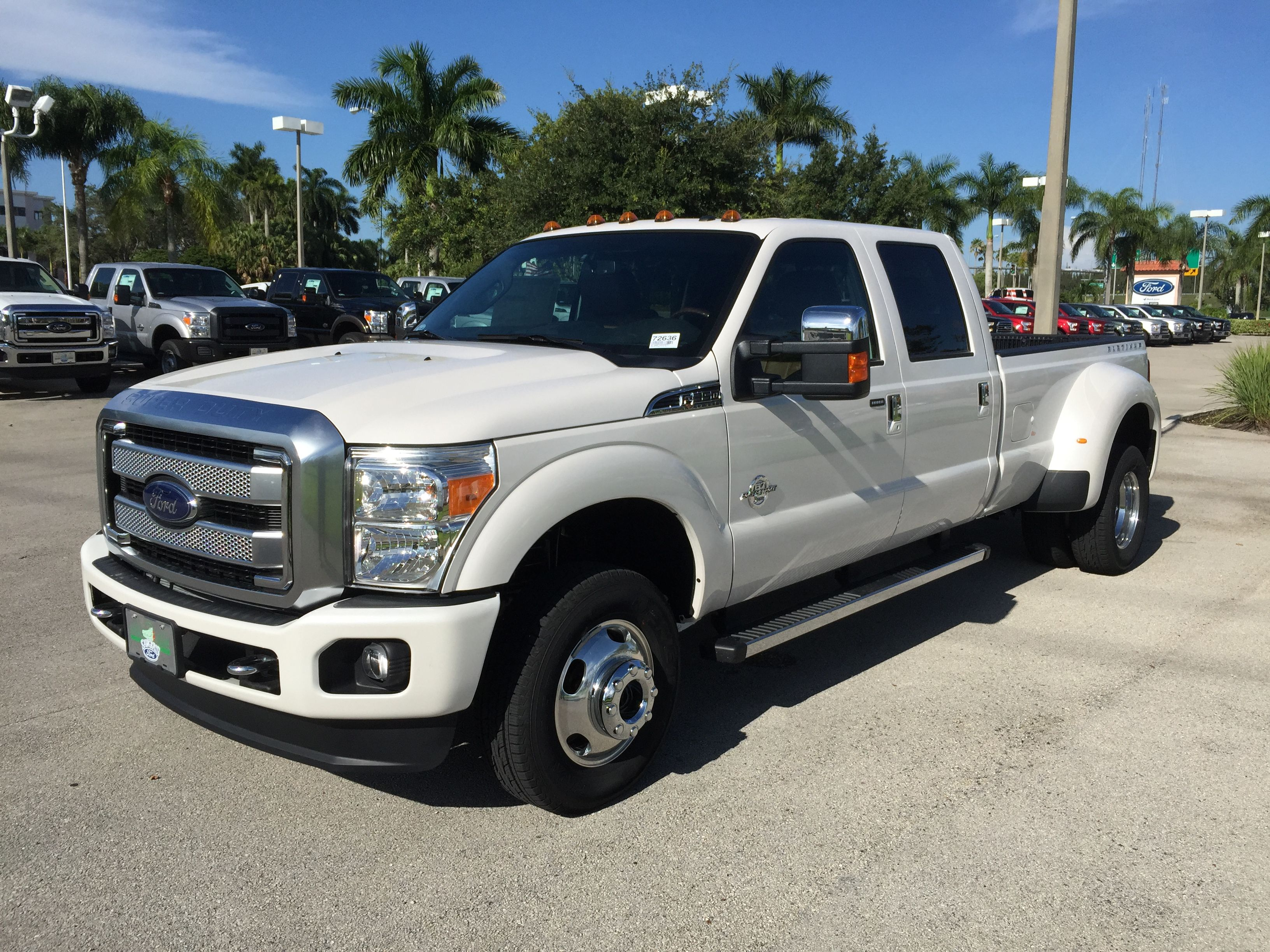 White 2016 Ford F 350 Dually With Stroke 6 7l Sel