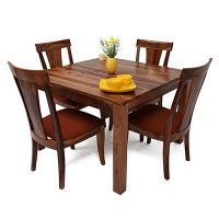 Jason 4 Seater Dining Table Set Orange Rs 23 450 Material