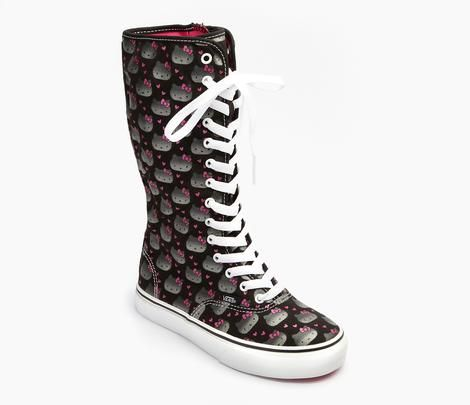 9cd4e36429176a VANS x Hello Kitty Kids Super Hi  Metallic for my sarah....think she must  have these!!