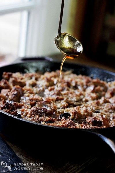 Rum Glazed Coconut Bread Pudding. With love, from Saint Kitts & Nevis.