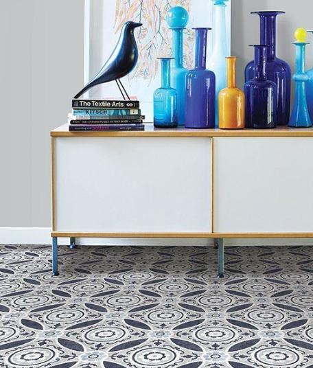 Bohemian Inspired Floor Tiles Peel And Stick Floor Tile Floor Vinyl Tile