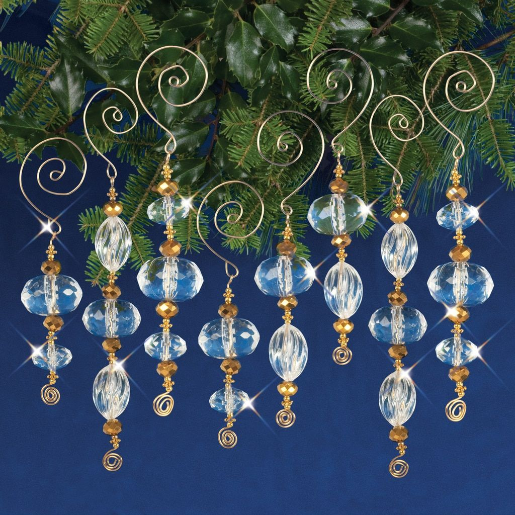 Diy Golden Crystal Icicles Ornaments Via Solid Oak Inc With