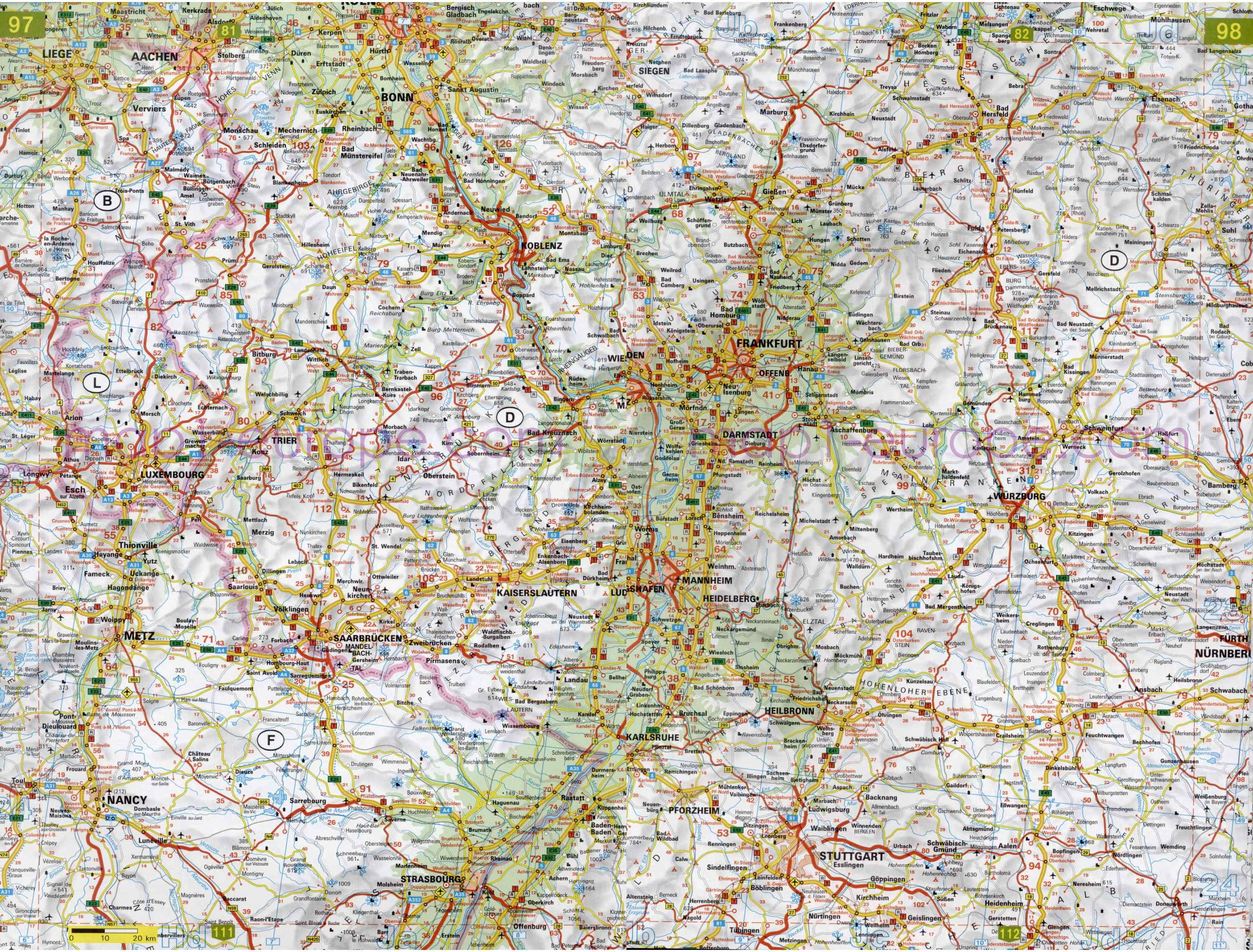 Map Of Europe With Scale.Map Of Europe In English Detailed Road Maps Of Europe Scale 1cm