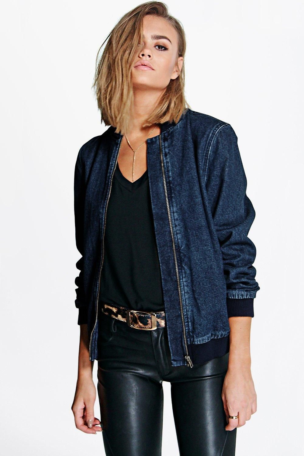 17 best ideas about Denim Bomber Jacket on Pinterest | Jumpers ...