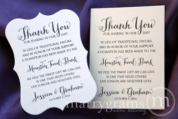 See All Matching Items To This Set Here Http Etsy Me Utuq2o These Custo Donation Wedding Favors Wedding Favors Wedding Donations