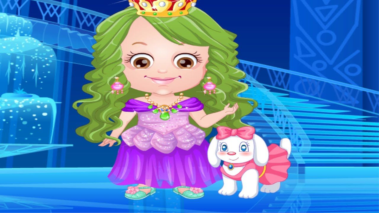Baby Hazel Ice Princess Dressup Girl GamePlay | Baby Hazel Game ...