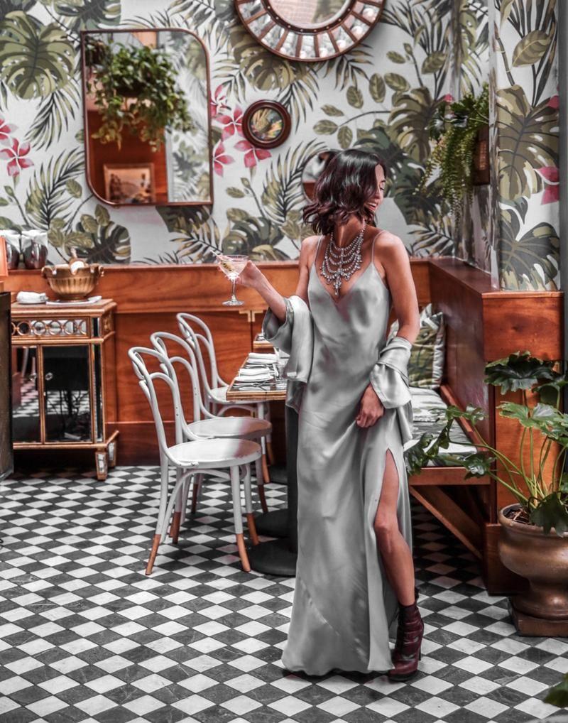 94d6ad583f5b Dannijo Mist Silk Slip Dress 90s Redux   Lady Parts in 2019 ...