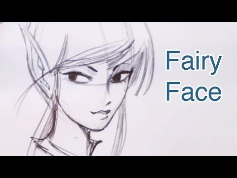 How To Draw A Beautiful Fairy Face Step By Step Fairy Drawings Fairy Paintings Fairy Sketch